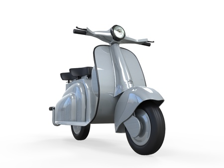 Old Vintage Scooter  photo