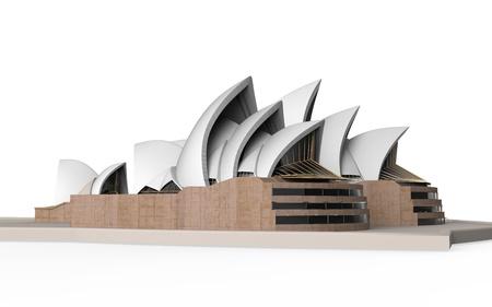 Sydney Opera House Isolated on White Background  Stock Photo
