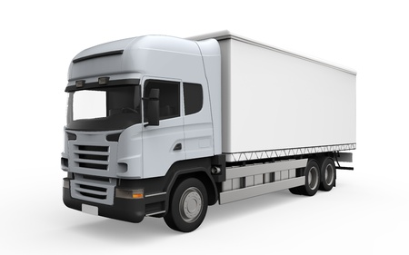 power delivery: Cargo Delivery Truck Isolated on White Background