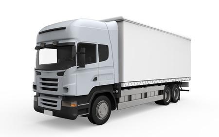 Carro del cargo de entrega Aislado sobre fondo blanco