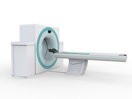 computer tomography: CT Scanner Tomography Isolated on White Background