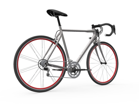 Speed Racing Bicycle Isolated on White Background photo