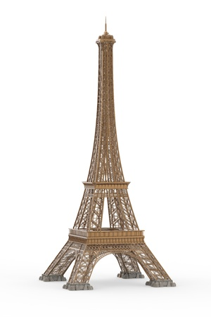 eifel tower: Eiffel Tower Isolated on White Background