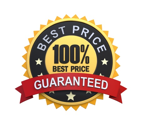 Best Price Guaranteed Label with Gold Badge Sign photo