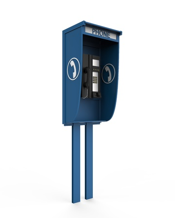 Public Payphone Isolated on White Background photo
