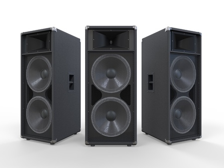 sound box: Large Audio Speakers Isolated on White Background