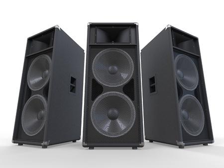 Große Audio-Lautsprecher auf weißem Hintergrund