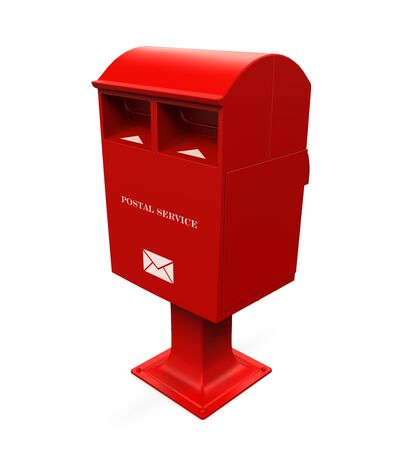 post box: Red Mail Box Stock Photo