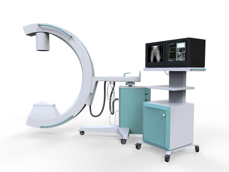 cancer x ray: C Arm X-Ray Machine Scanner Stock Photo
