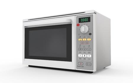 microwave oven: Horno de microondas aislado en el fondo blanco