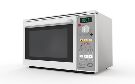 microwave oven: Microwave Oven Isolated on White Background Stock Photo