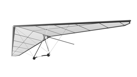hang glider: Hang Glider Isolated on White Background Stock Photo