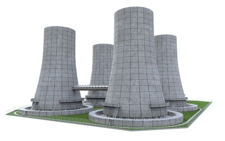 cooling tower: Nuclear Power Plant Stock Photo
