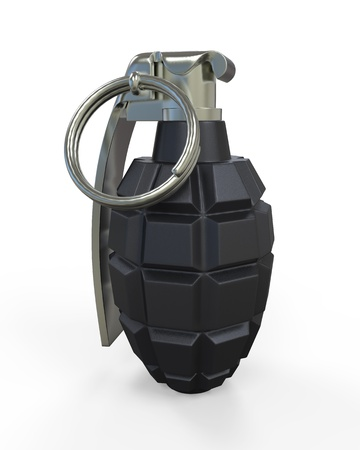 Hand Grenade Isolated on White Background photo