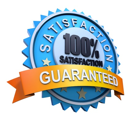 best price icon: Guaranteed Label with Gold Badge Sign Stock Photo
