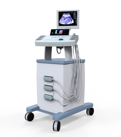 diagnostic tool: Medical Ultrasound Diagnostic Machine Stock Photo