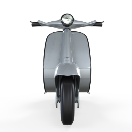 old school bike: Old Vintage Scooter  Stock Photo