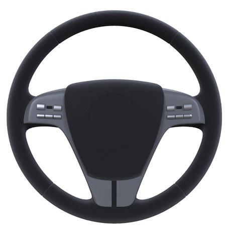 Steering Wheel Isolated on White Background Stock Photo