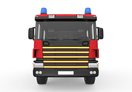 firetruck: Fire Truck Isolated on White Background