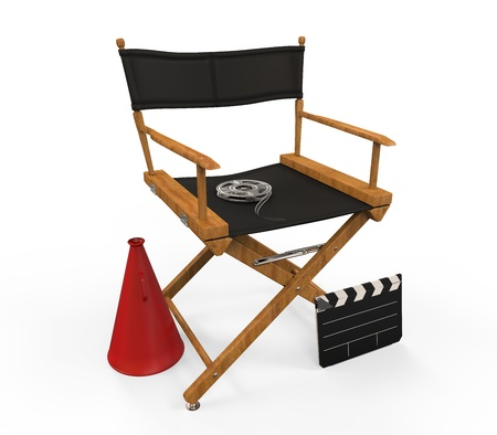 performing: Movie Director Chair