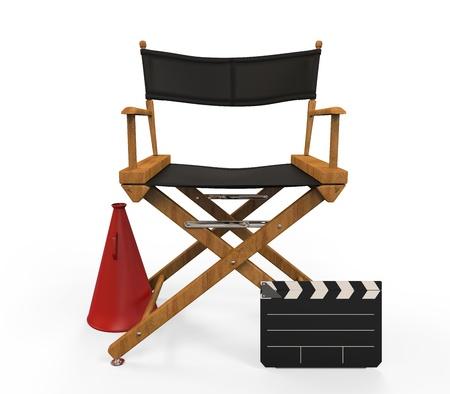 camara de cine: Director de la C�tedra de pel�culas Foto de archivo