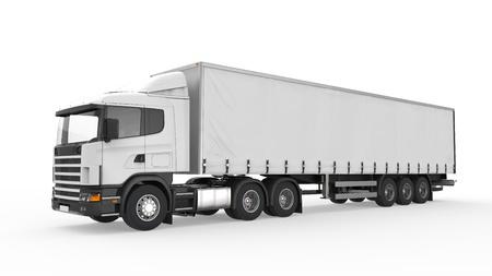Cargo Delivery Truck auf weißen Hintergrund