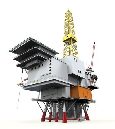 oil rig: Drilling Offshore Platform Oil Rig