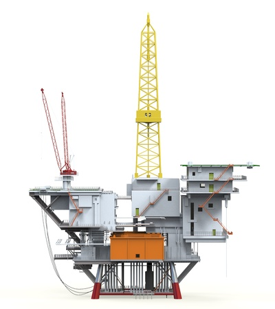 torre de perforacion petrolera: Plataforma de perforaci?n mar adentro de la plataforma petrolera Foto de archivo