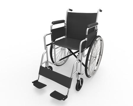 cadeira de rodas: Cadeira de rodas isolada no fundo branco Banco de Imagens