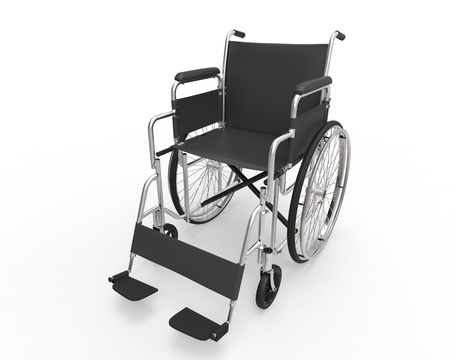 Wheelchair Isolated on White Background photo
