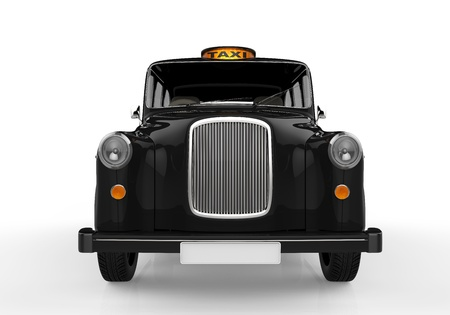 black cab: Black London Taxi