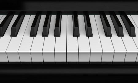 piano keys: Piano Keys Closeup