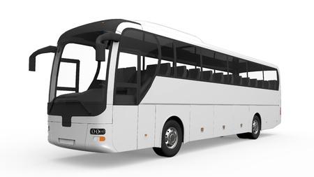 大きな白い観光バス 写真素材