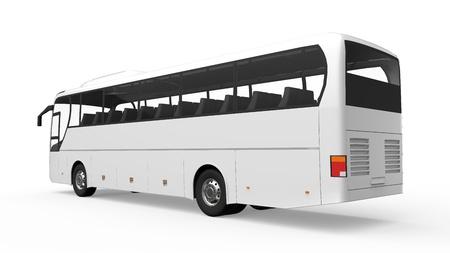 수송: 큰 흰색 투어 버스
