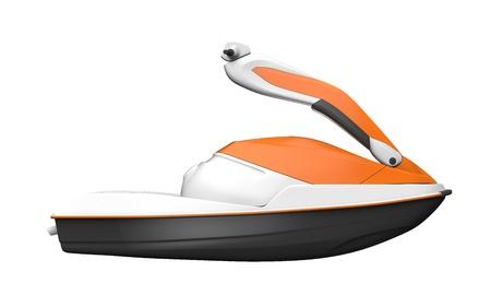 moto acuatica: Jet Ski aisladas sobre fondo blanco