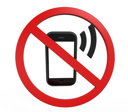no cell phone sign: No Cell Phone Sign