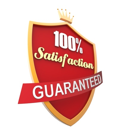 Guaranteed Label Isolated photo