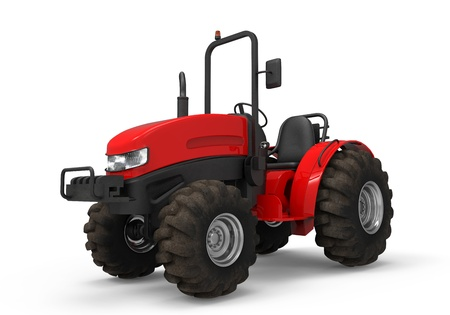 Red Tractor Isolated photo