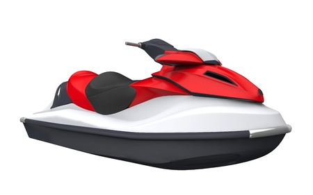 scooters: Jet Ski Isolated on White Background