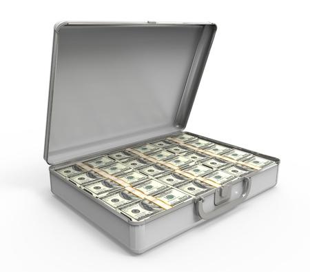 Valise pleine d'argent Banque d'images - 20365626