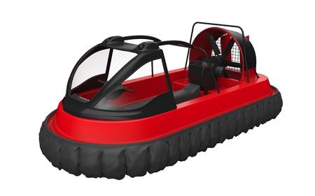 aéroglisseur: Red Hovercraft isolé