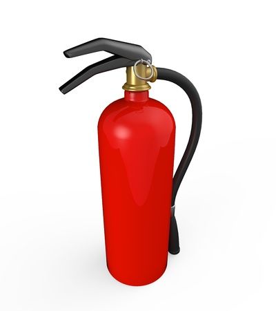 Red Fire Extinguisher photo