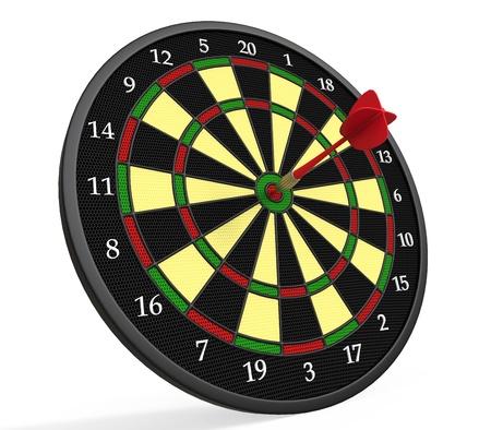 Darts on Target Stock Photo