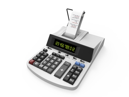Calculator with Printed Receipt photo