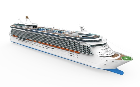 3d boat: Luxury Cruise Ship
