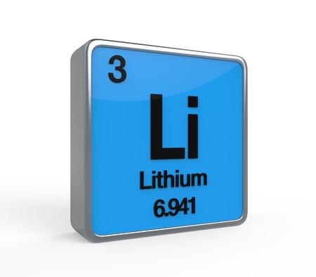 lithium: Lithium Element Periodic Table Stock Photo