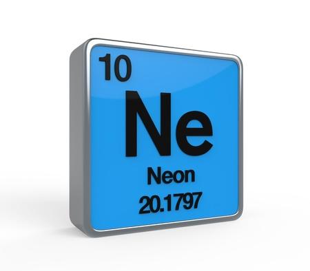 noble gas: Neon Element Periodic Table Stock Photo