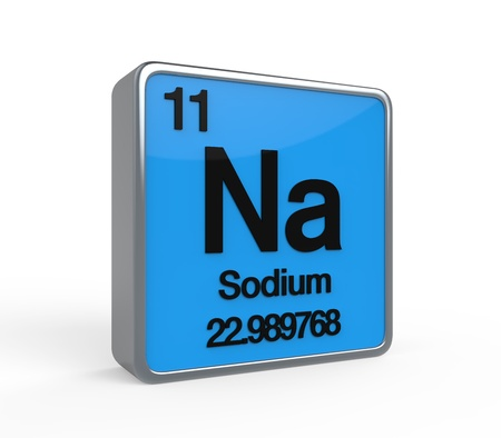 period: Sodium Element Periodic Table Stock Photo