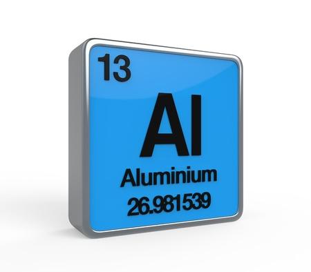 noble gas: Aluminium Element Periodic Table Stock Photo