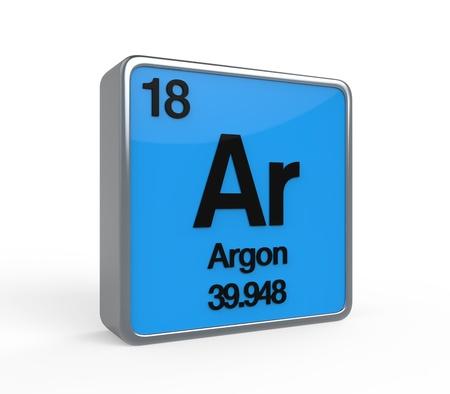 atomic structure: Argon Element Periodic Table